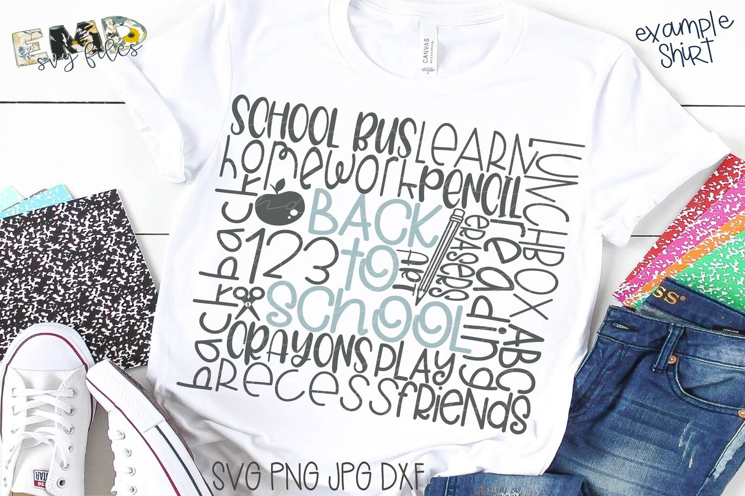 Back To School Svg | First Day of School Svg example image 1