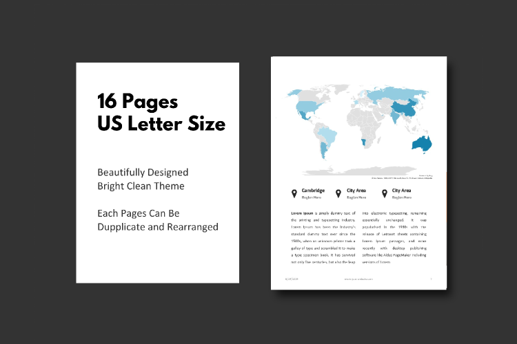 Business Report eBook Powerpoint Template example image 5
