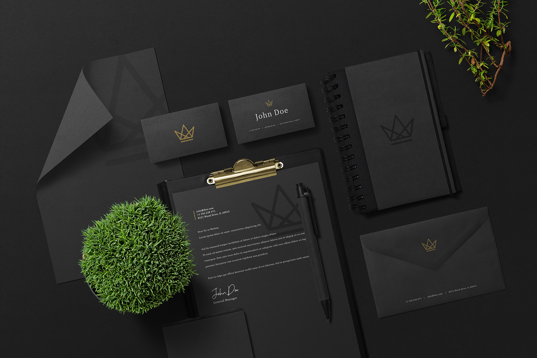 Black Branding Mockups Vol.2 example image 10