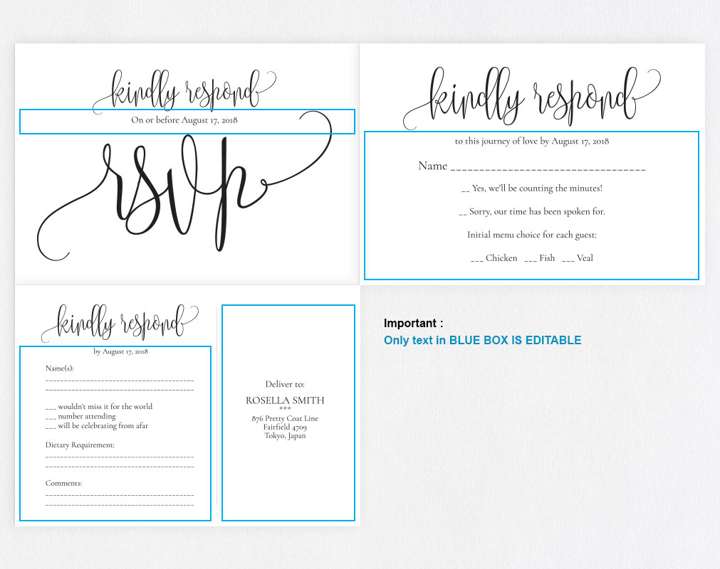 RSVP cards, TOS_8 example image 5