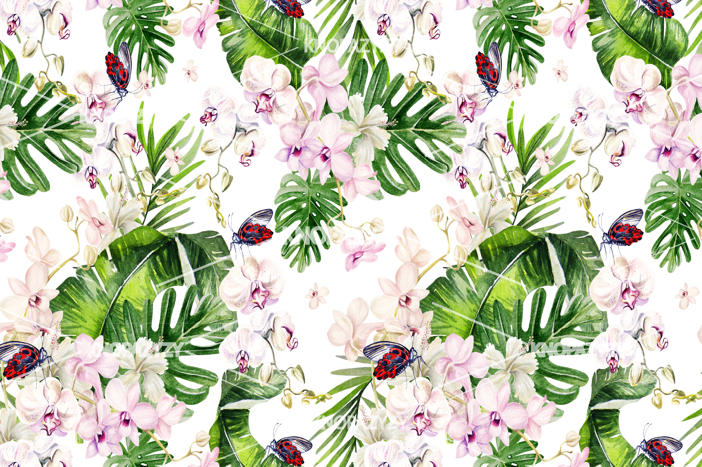 14 Hand drawn watercolor patterns example image 13