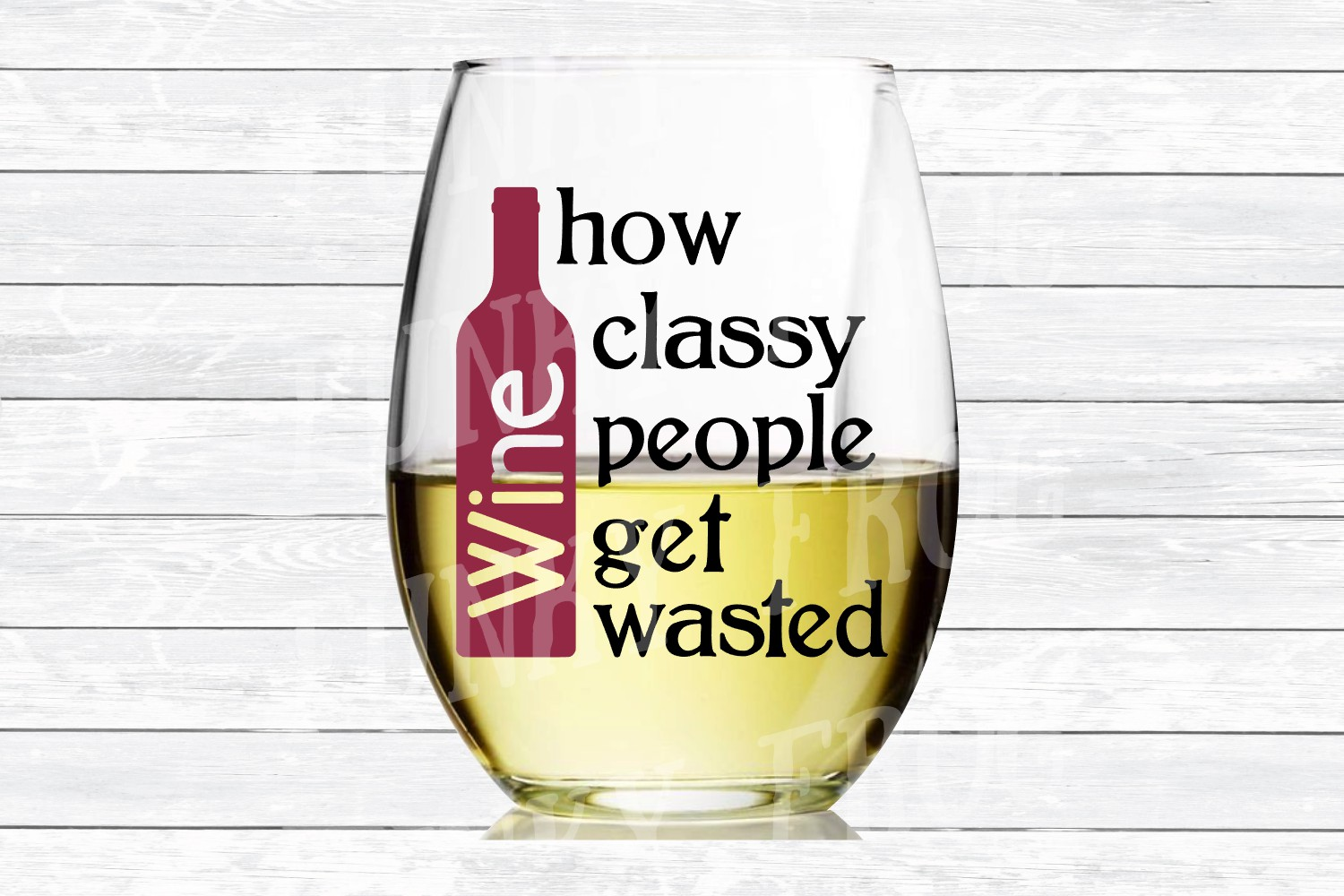 Wine How Classy People Get Wasted SVG Cut File for Cra example image 3