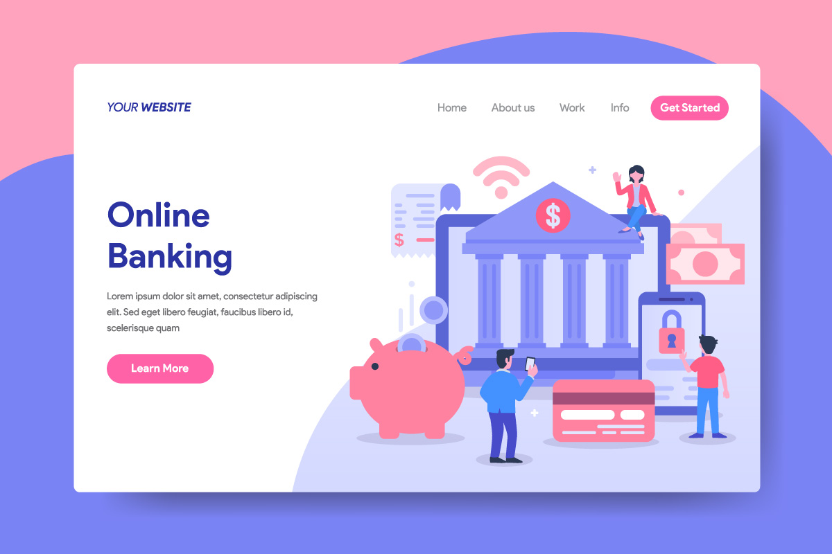 Online Banking Concept Illustration for Landing Page example image 1