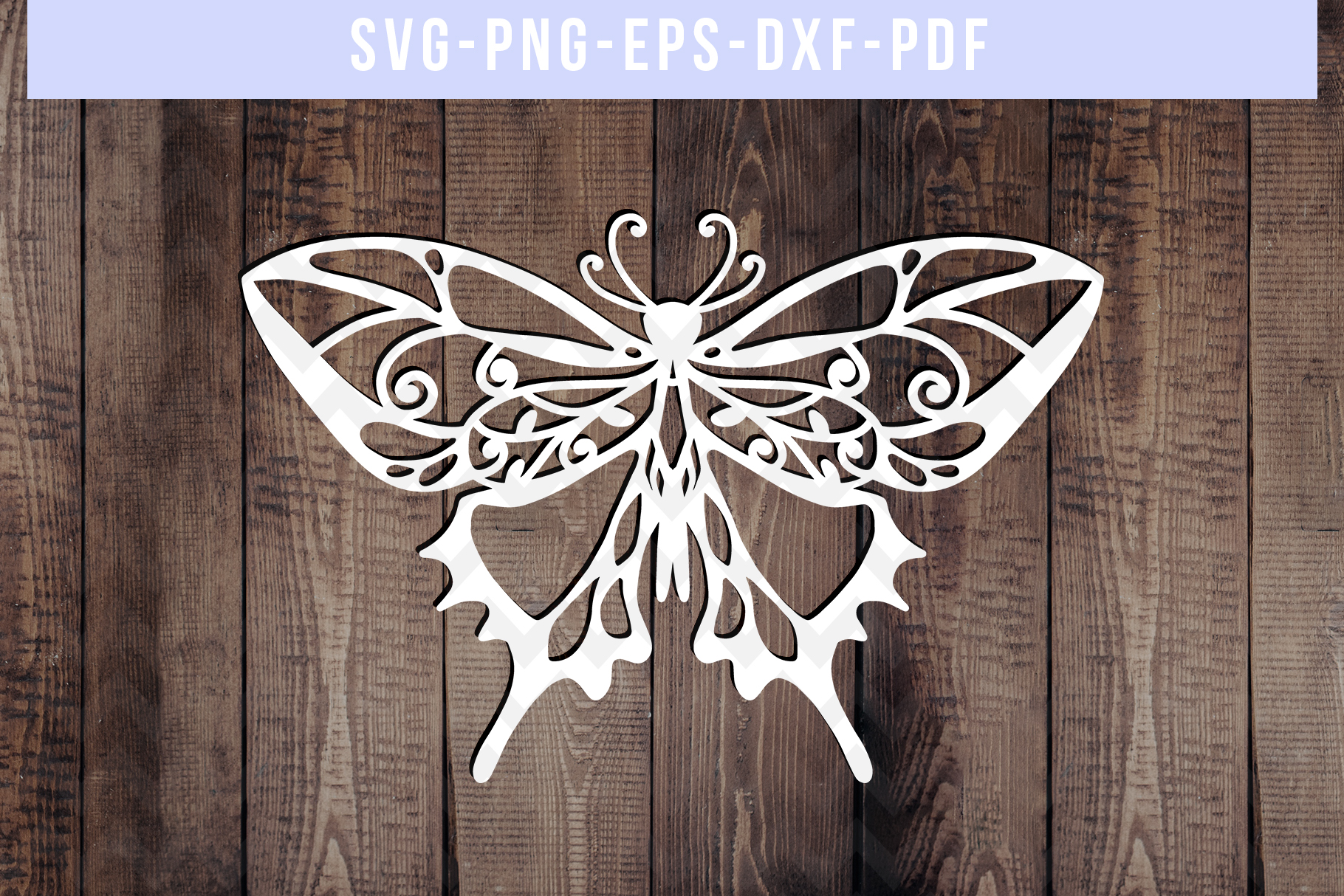 Bundle Of 9 Butterfly Papercut Templates, Paper Art DXF PDF example image 10