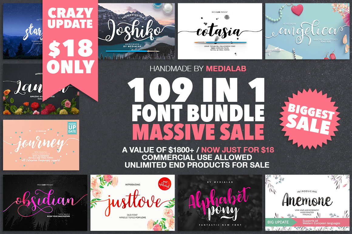 109 in 1 BEST FONT BUNDLE example image 1