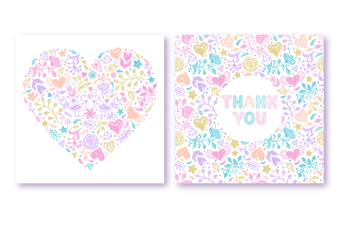 Pastel floral pattern example image 2