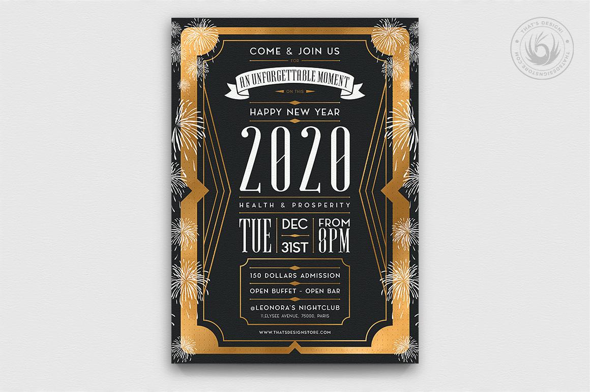 10 New Year Flyer Bundle example image 8