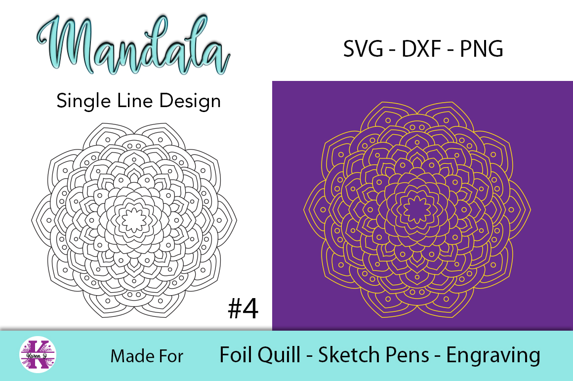 Mandala #4 for Foil Quill |Sketch Pen | Engraving example image 1