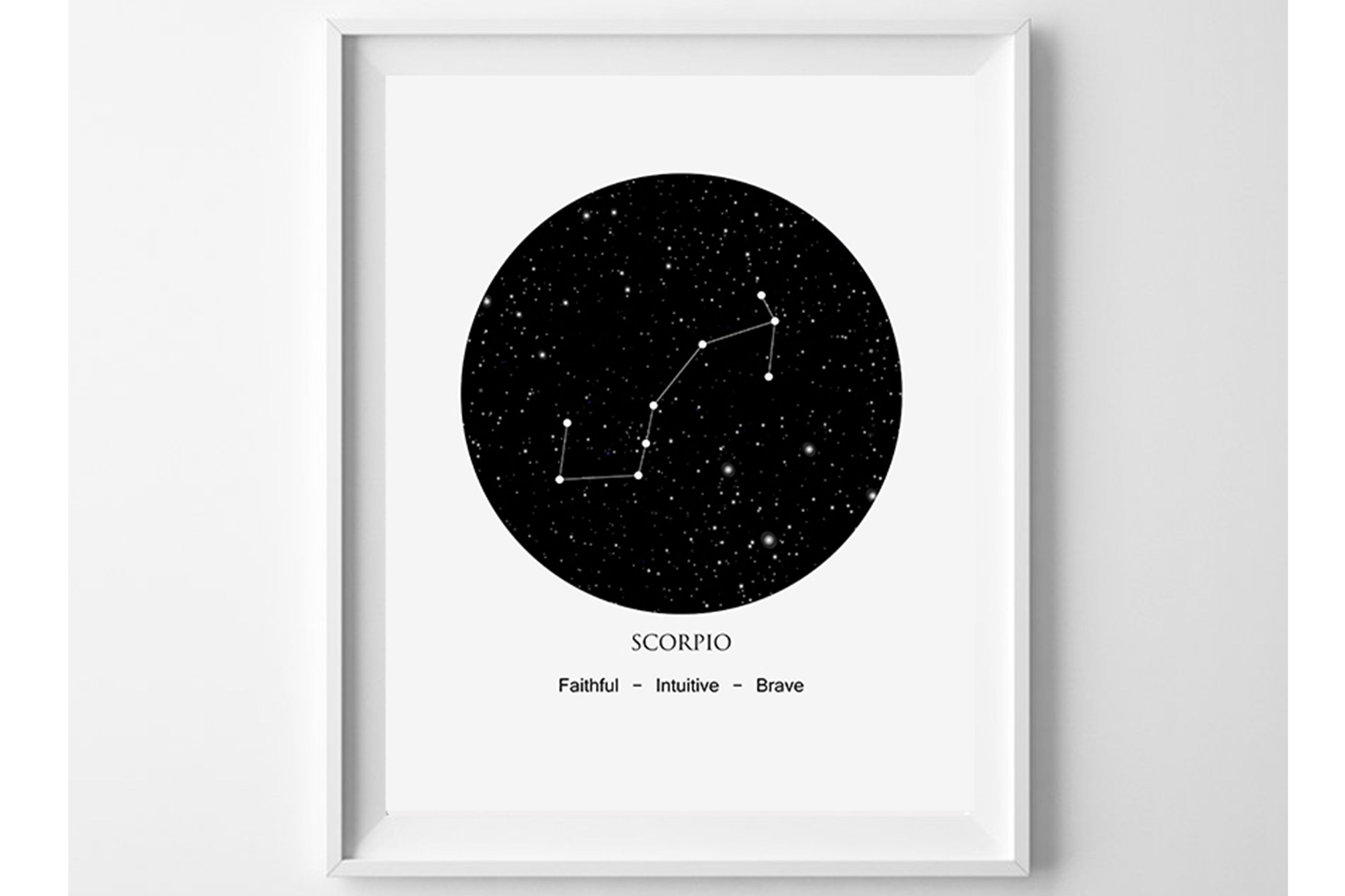 Constellation Print, Scorpio Wall Art, Zodiac Scorpio example image 1