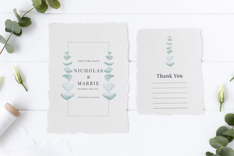 Eucalyptus Wedding Invitation Suite example image 2