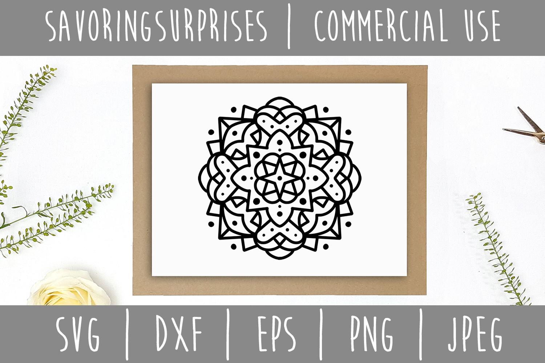 Mandala SVG, DXF, EPS, PNG JPEG example image 3