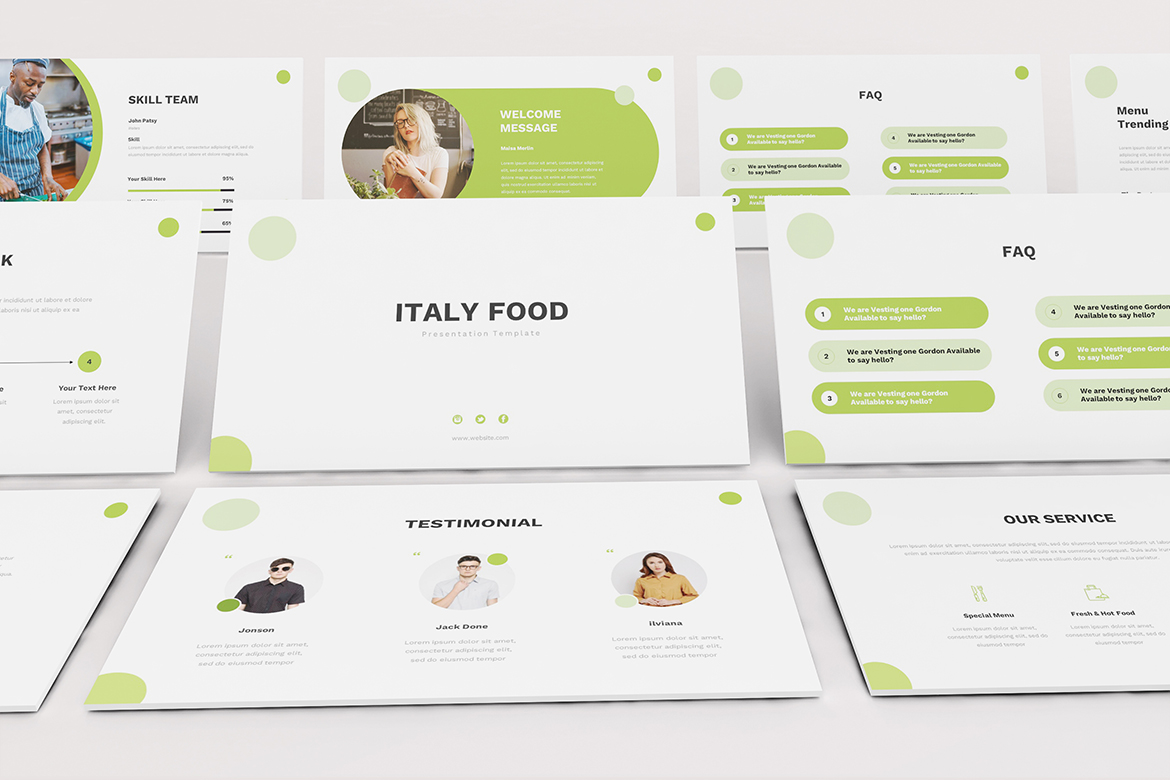 Food Powerpoint Template example image 9