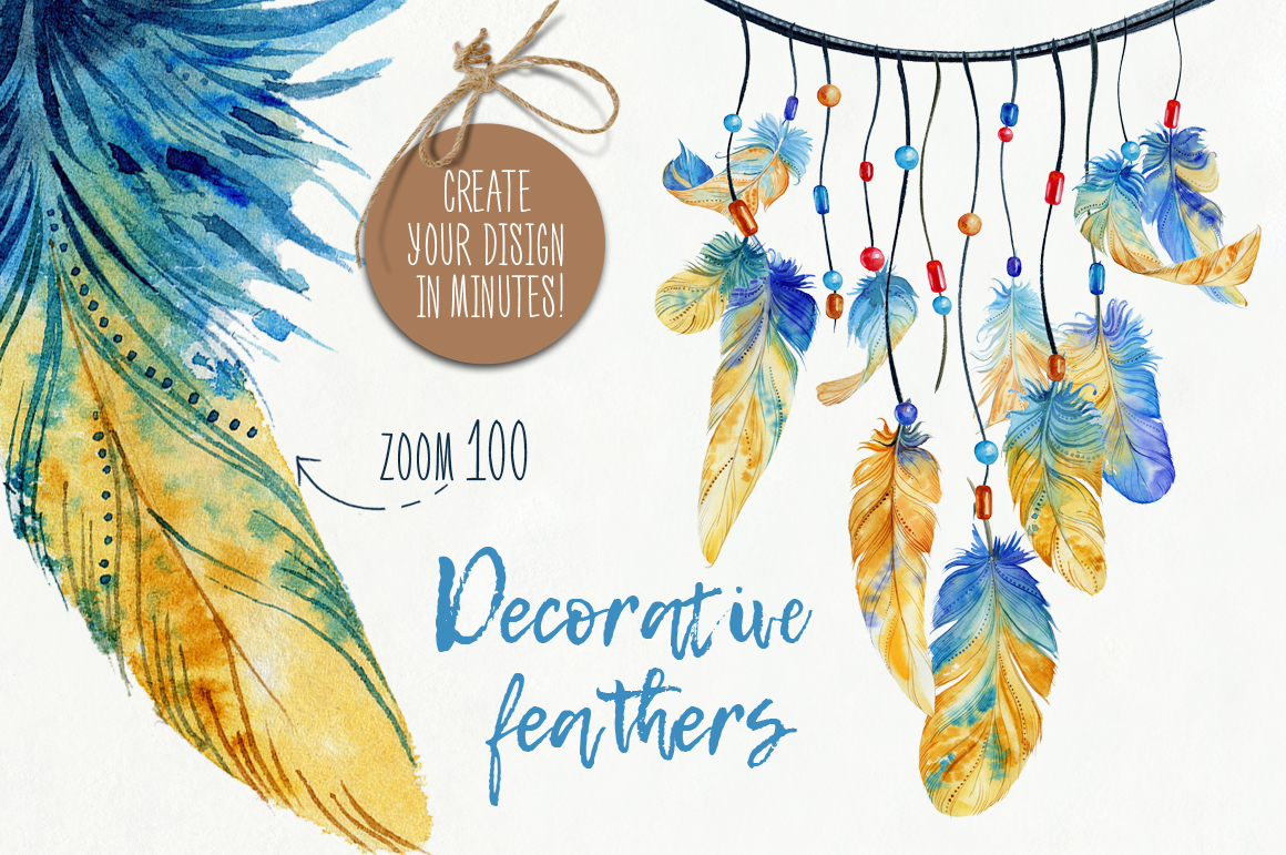 Decorative Feathers example image 11