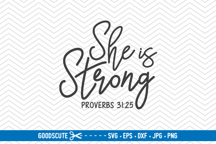 She Is Strong - SVG DXF JPG PNG EPS example image 1
