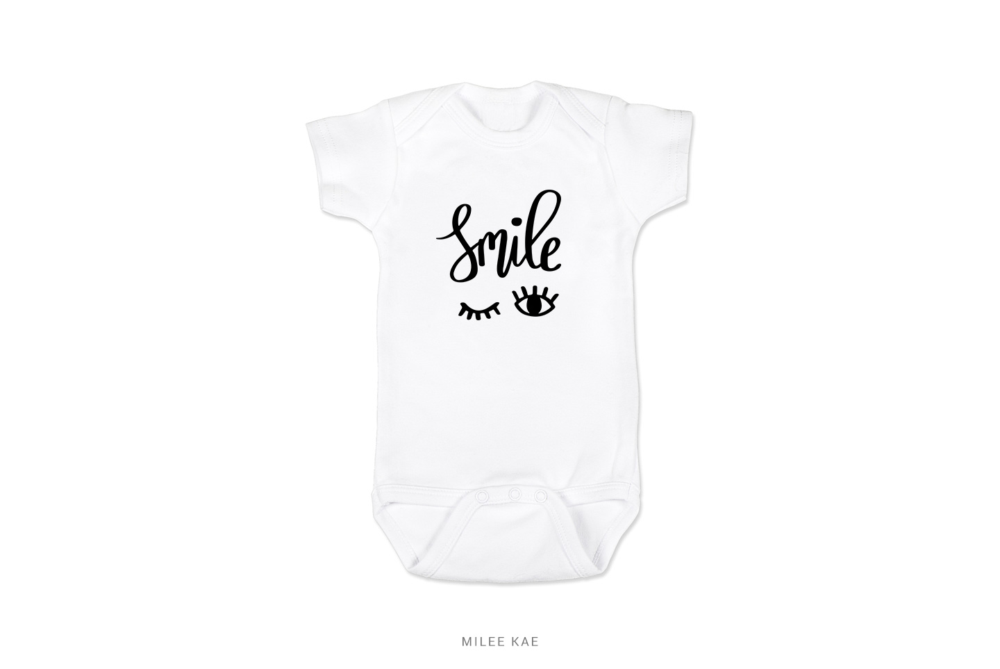Smile, Cutting file, SVG, PNG, EPS, DXF example image 2