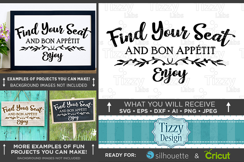 Find Your Seat SVG Wedding Sign - Take Photos Wedding - 5509 example image 1
