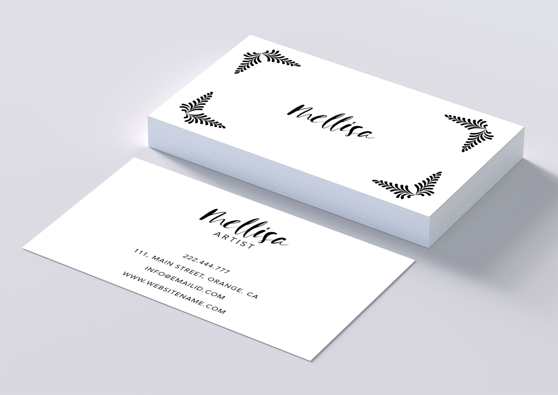 Eye catching art business card example image 1