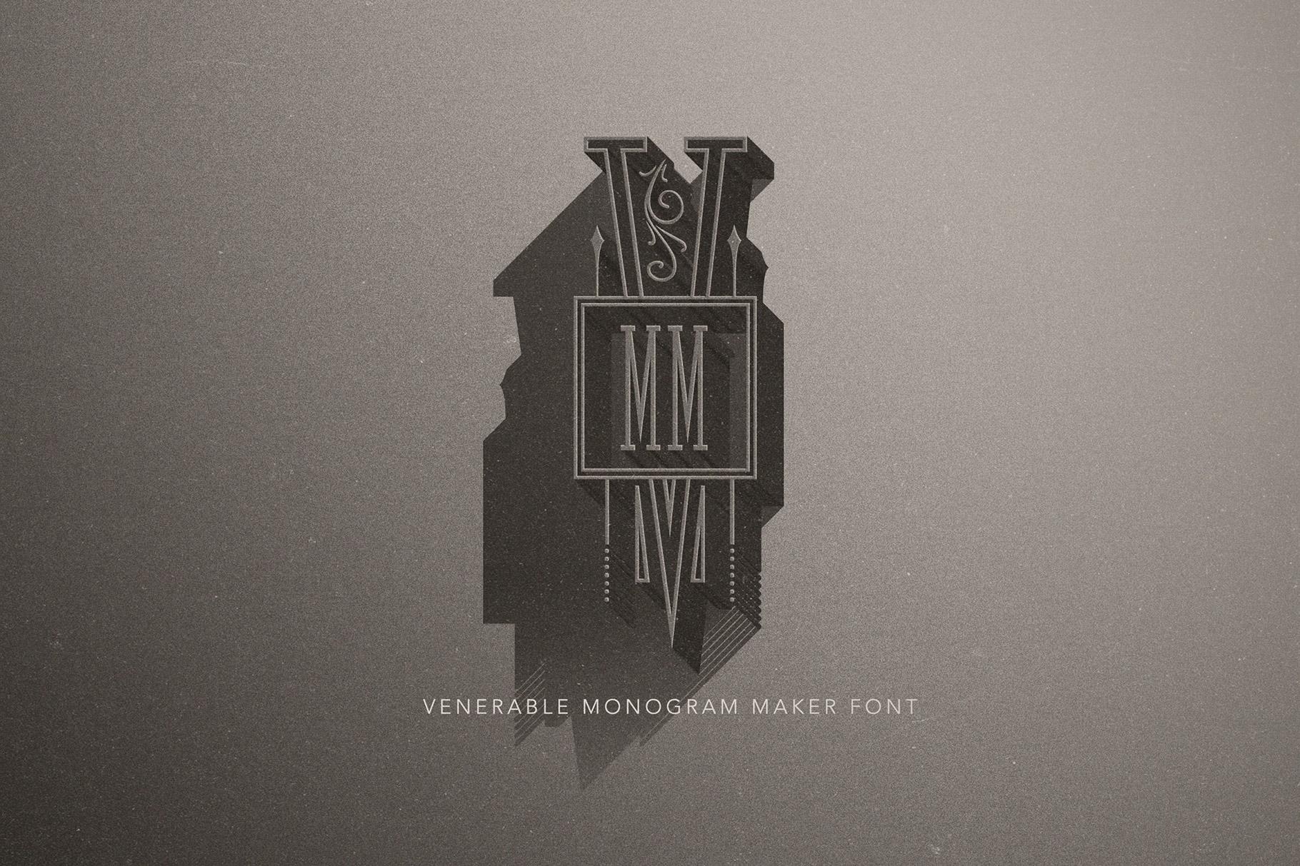 Venerable Monogram Maker Font example image 3