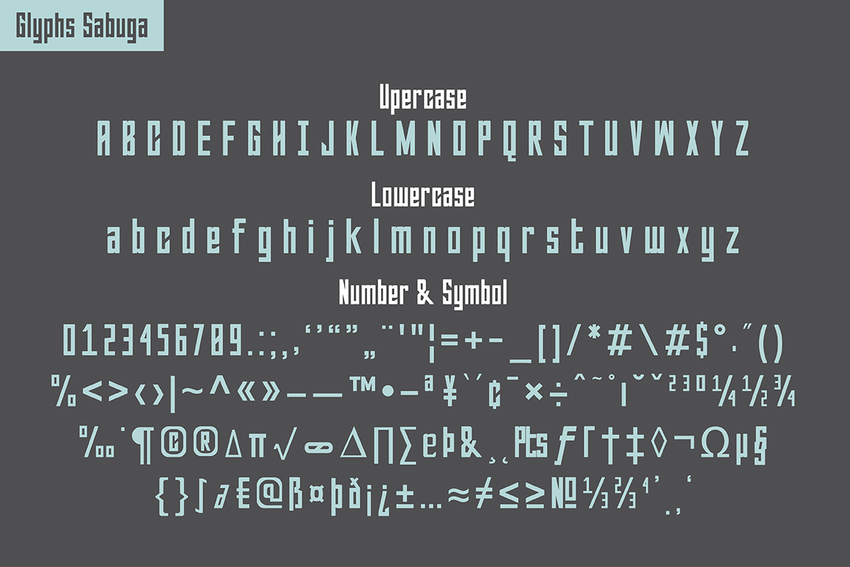 Sabuga Font example image 3