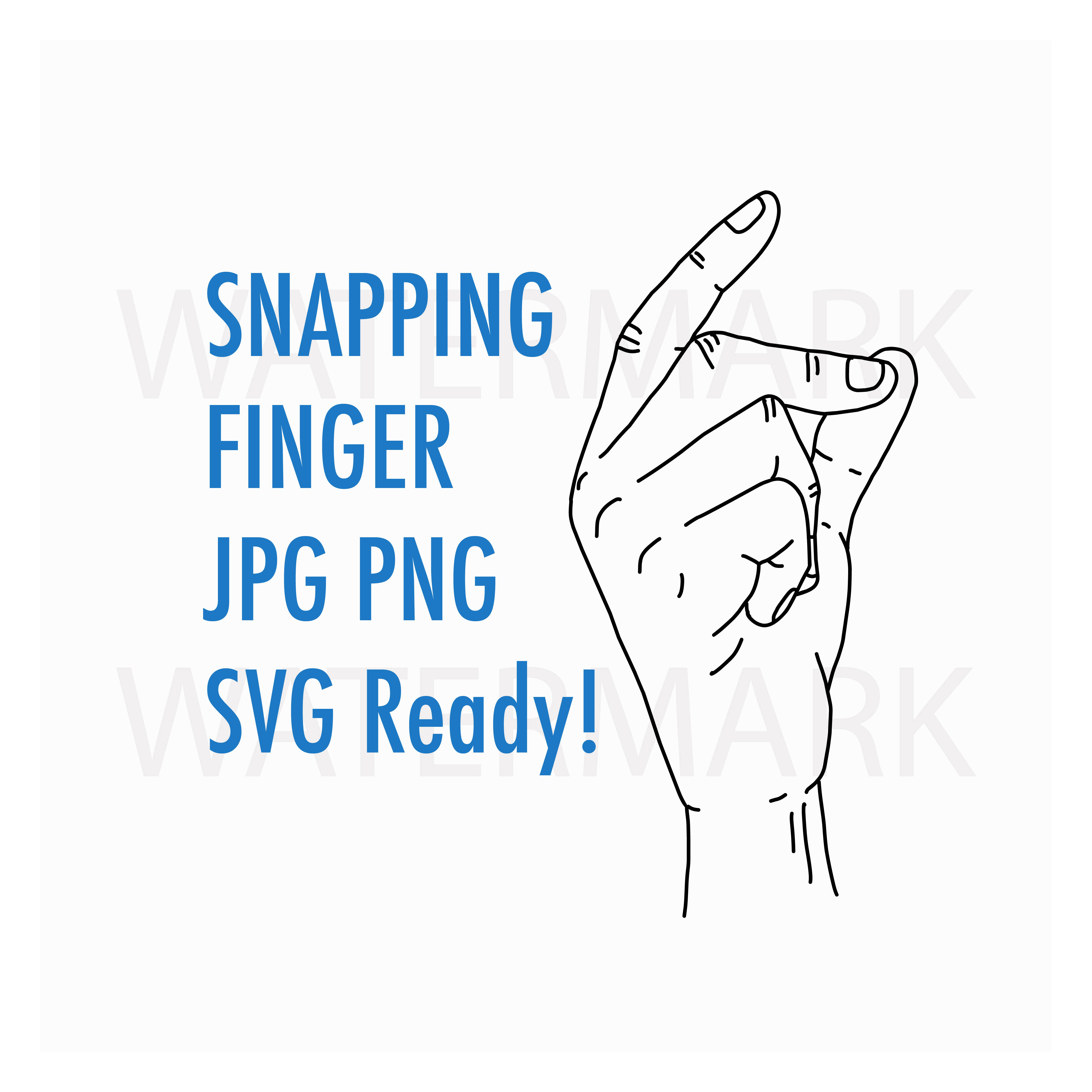Snapping finger along with the song - like Elvis - SVG/JPG/PNG Hand Drawing example image 1