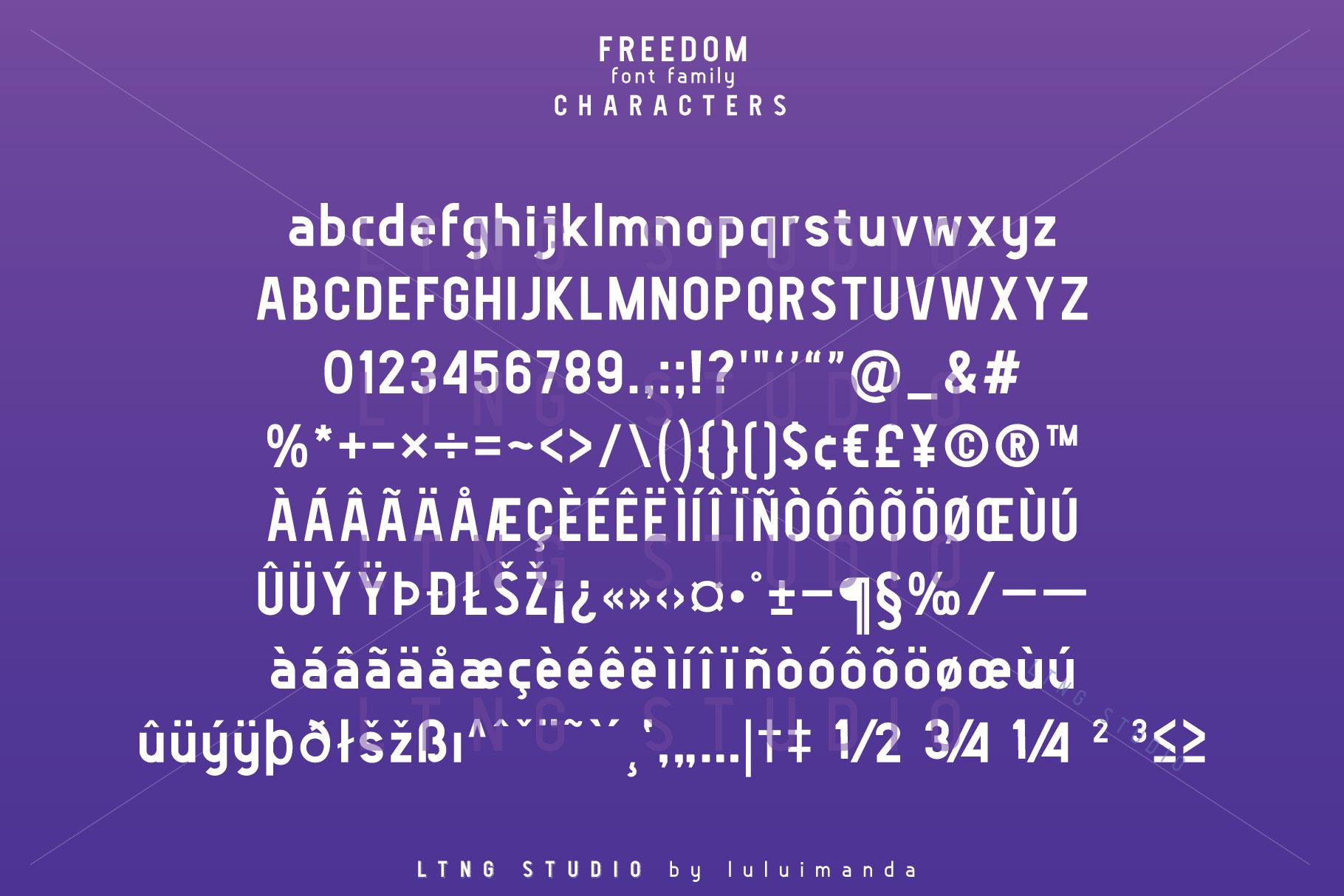 FREEDOM font family example image 6