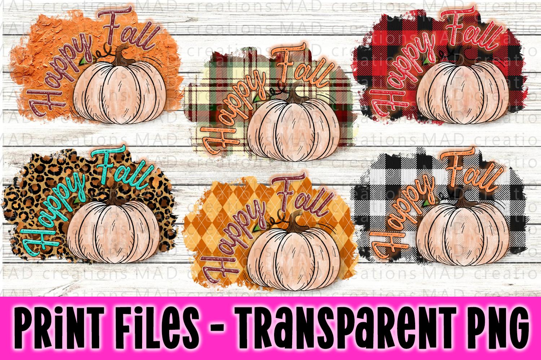6 PNG Happy Fall Bundle - Pumpkin Bundle - Print File example image 1