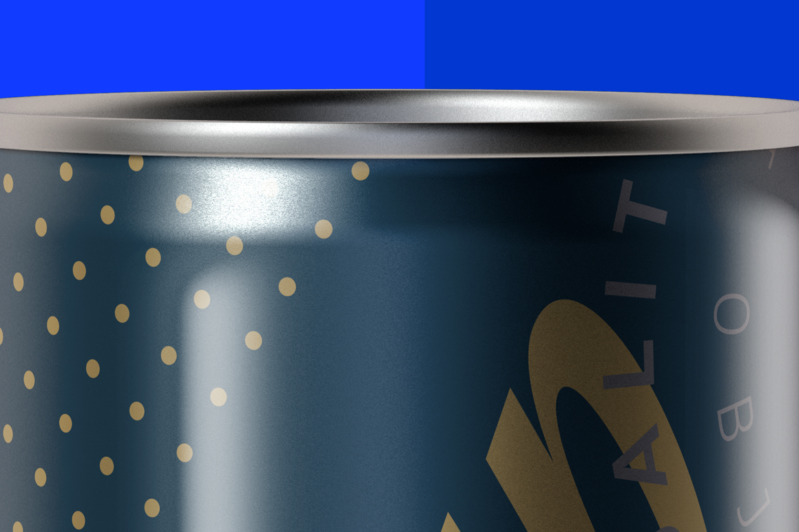 Glossy Aluminum Can Mockup 250ml example image 6