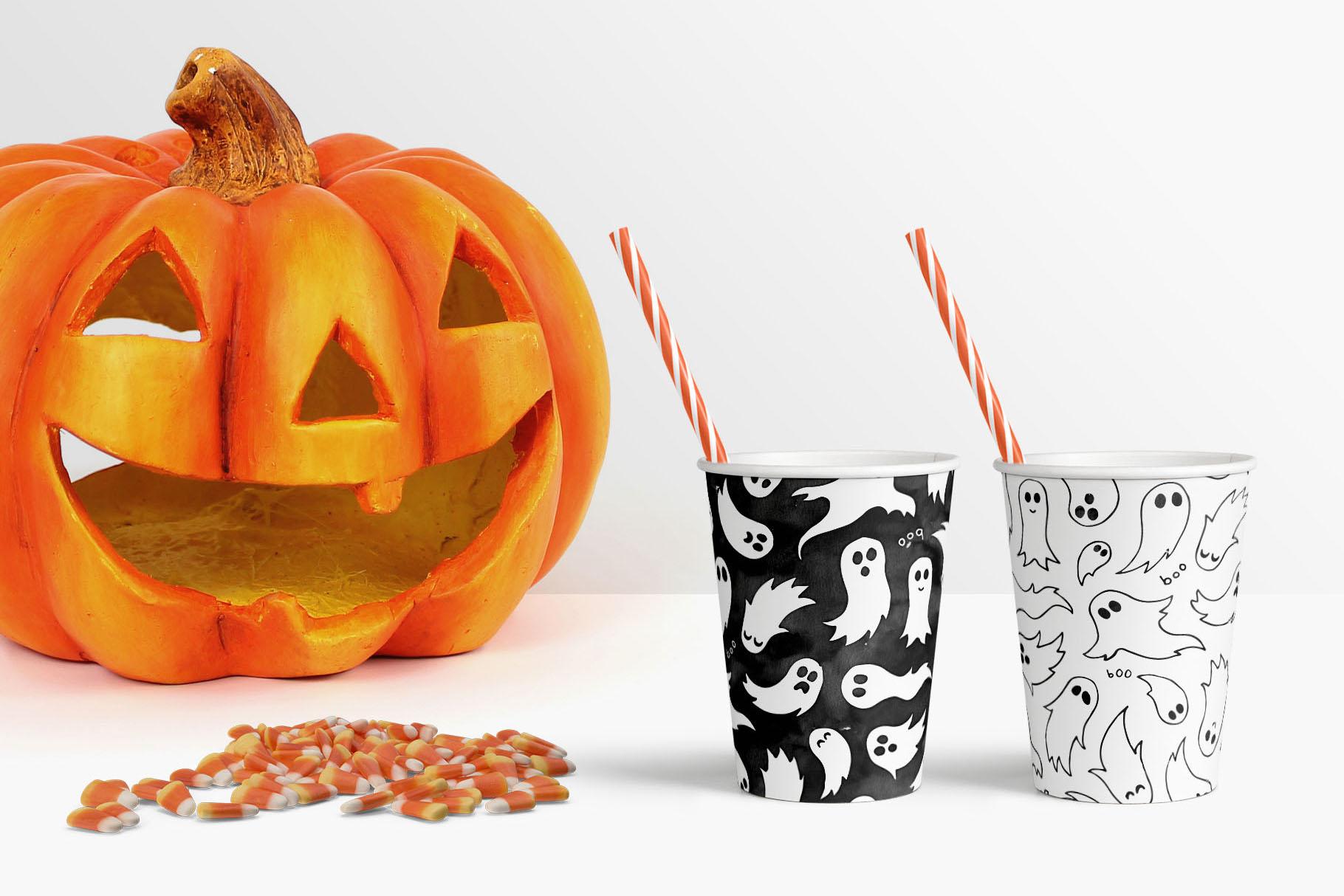 6 Huge Seamless Watercolour Halloween Textures example image 7