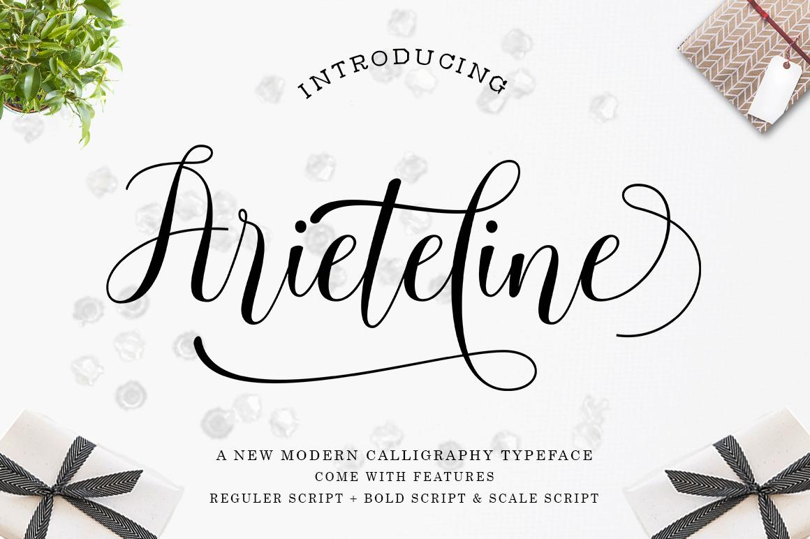 Arieteline Script example image 1