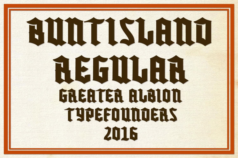 Buntisland Typeface Family example image 2