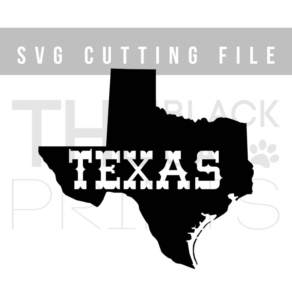 Texas map SVG PNG EPS DXF example image 3
