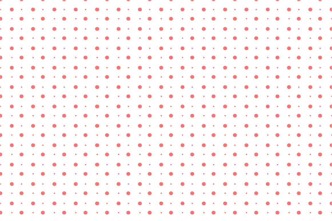 Dotted seamless patterns. Vector set example image 12