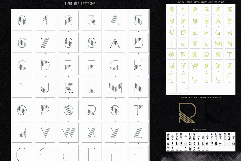 Neon Light Lettering Kit example image 7