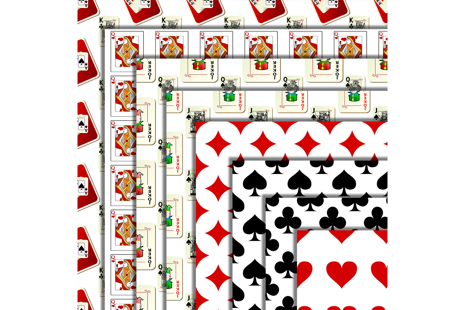 Playing Card Suits - Digital Wall,Playing Card Pattern, SALE example image 3