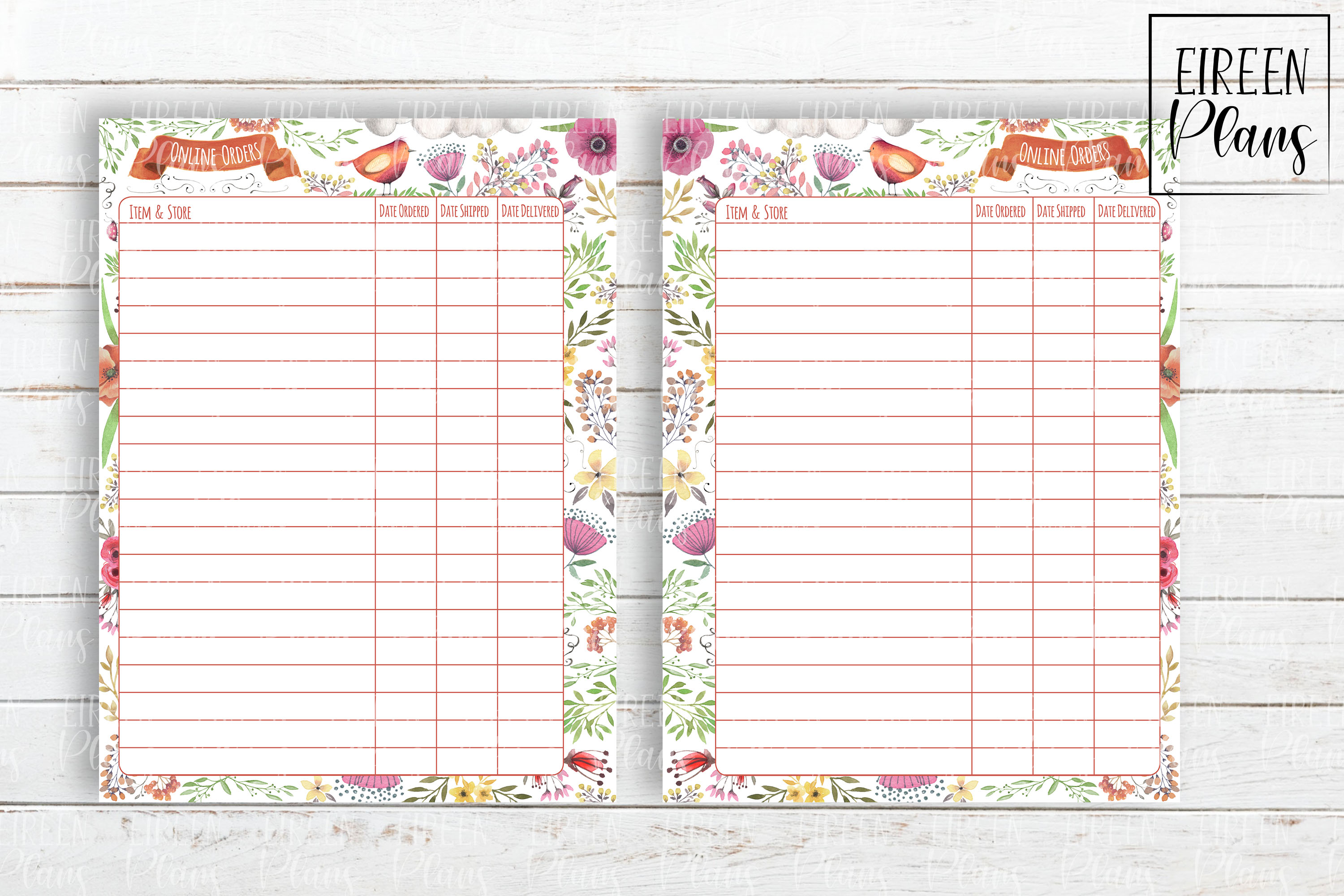 Onilne Orders Tracker for Classic Happy Planner example image 2