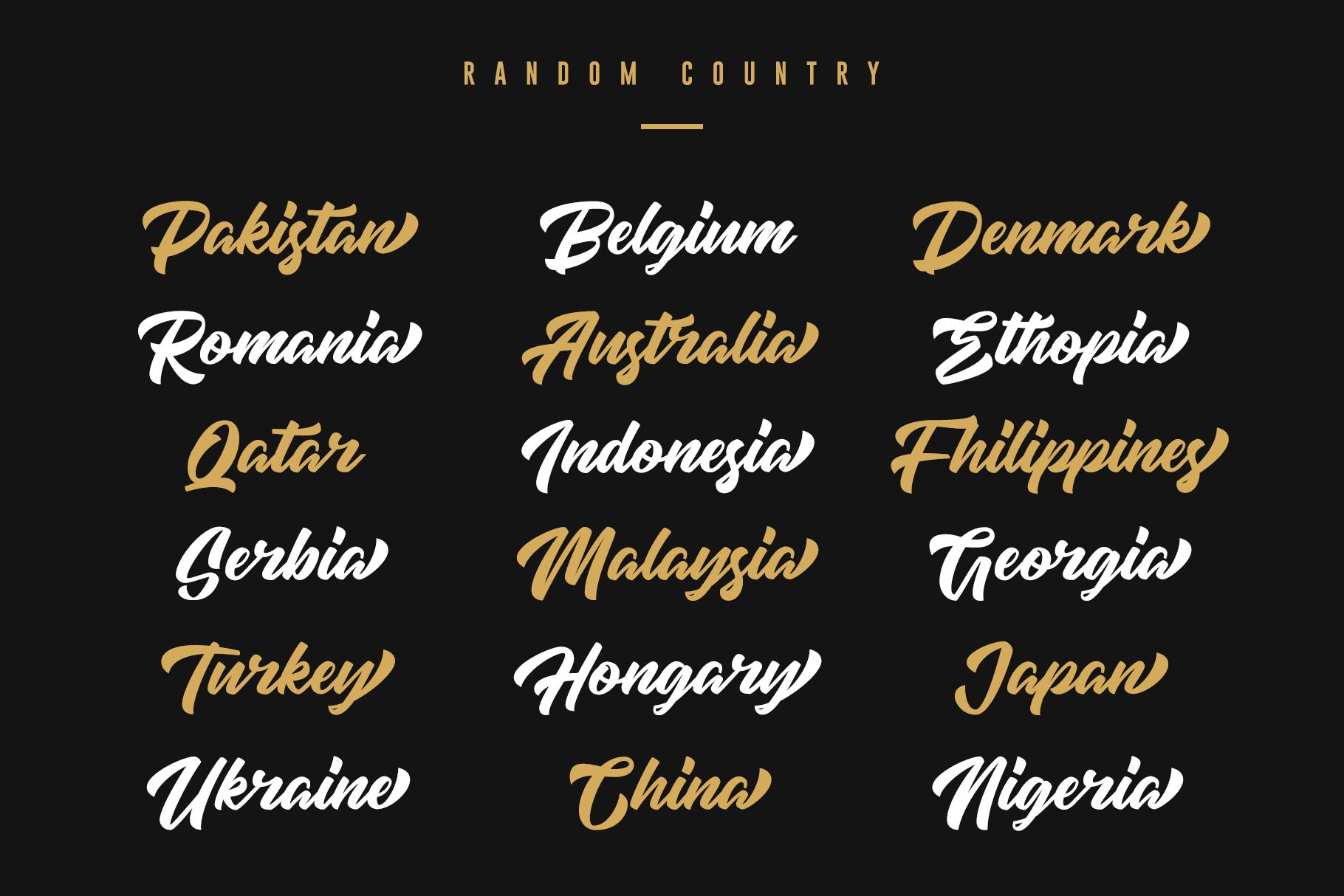 High Amelliya Typeface example image 8