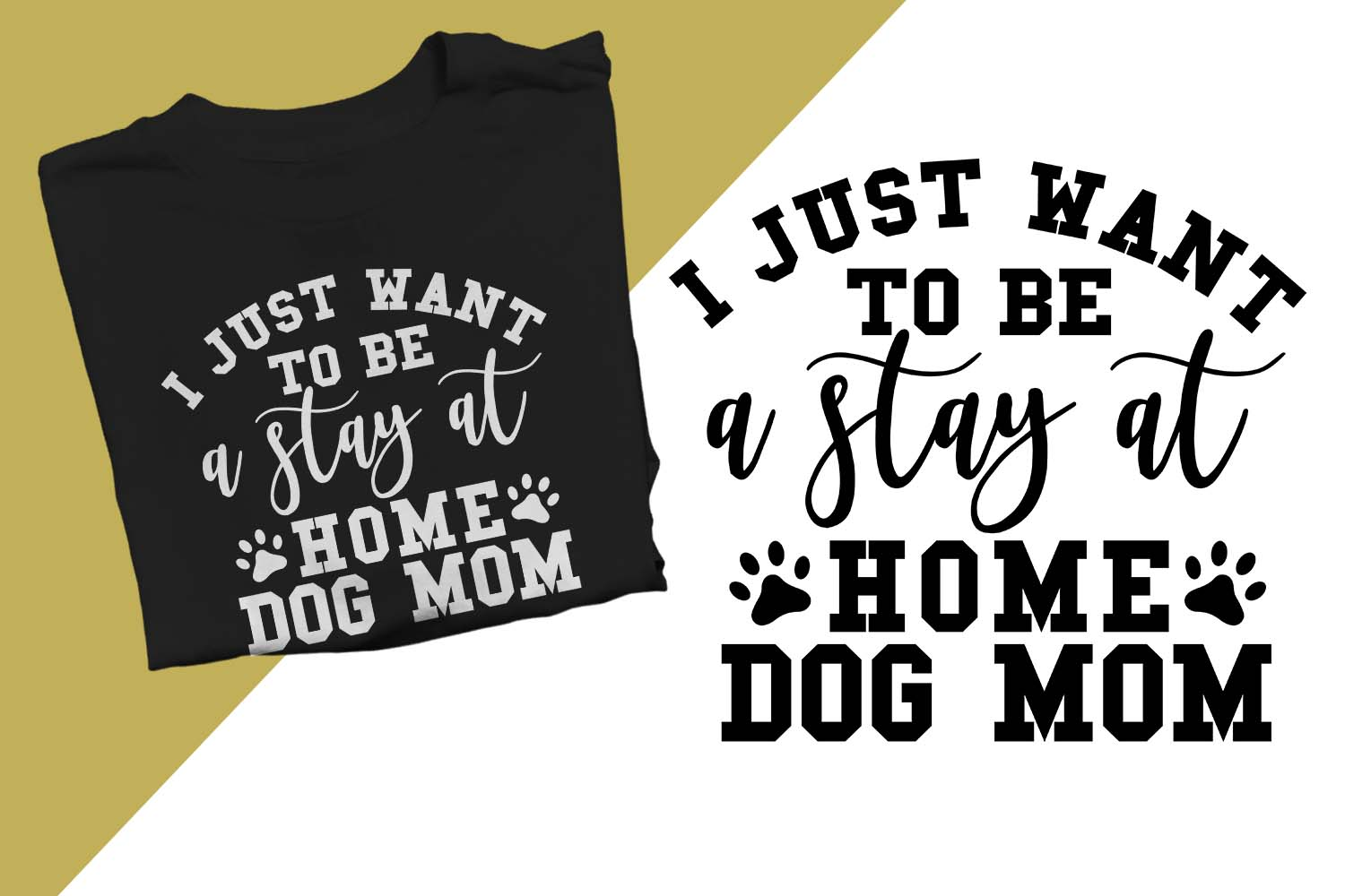 stay at home dog mom Printable example image 1