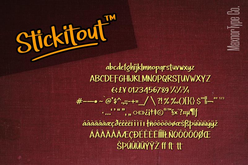 Stickitout - Hand Drawn Logo Font example image 10