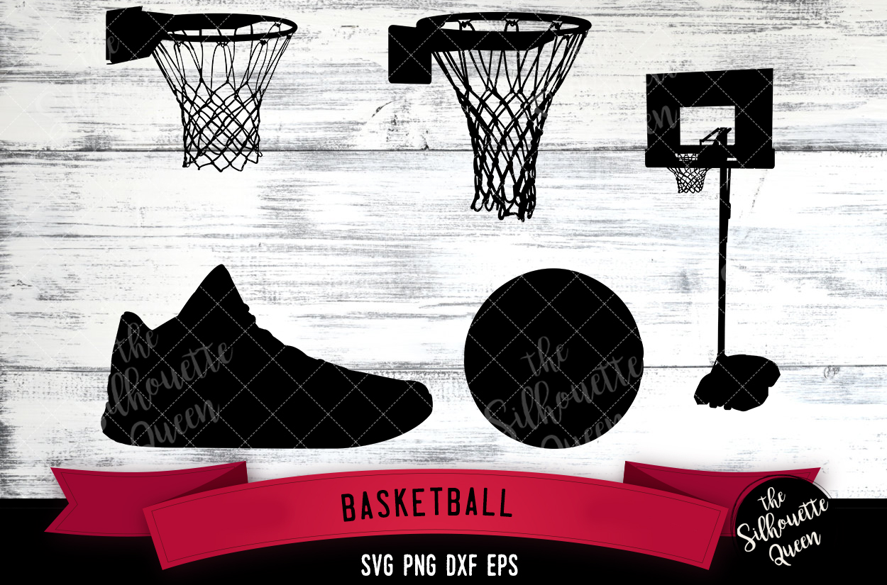 Basketball Equipment svg file, svg cut file example image 1