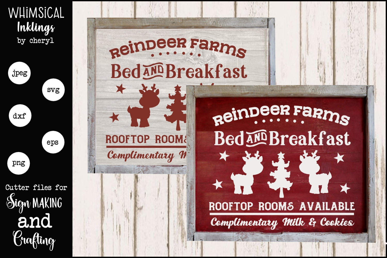 Reindeer Farms-Christmas SVG example image 1