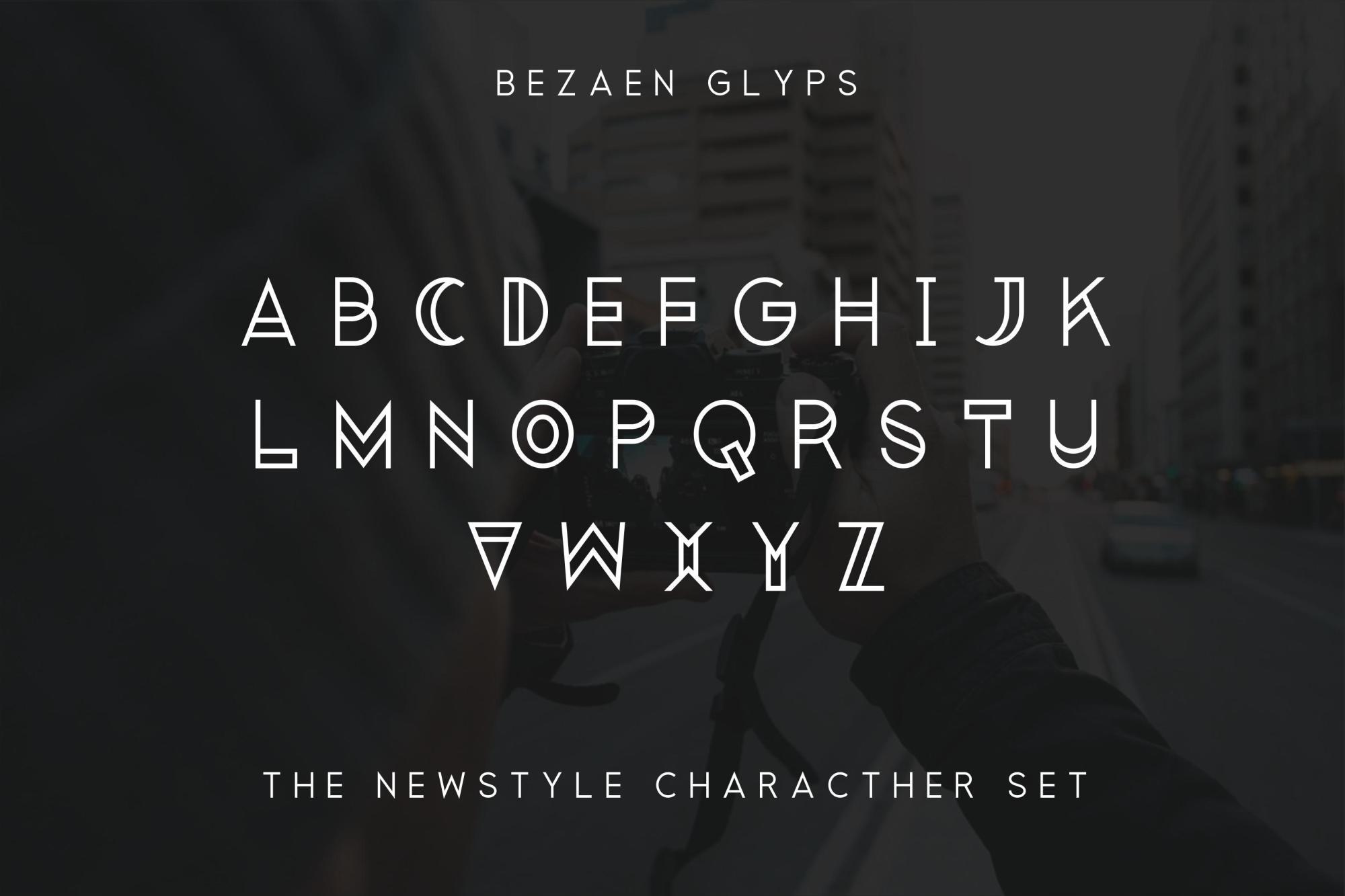 Bezaen Typeface example image 3