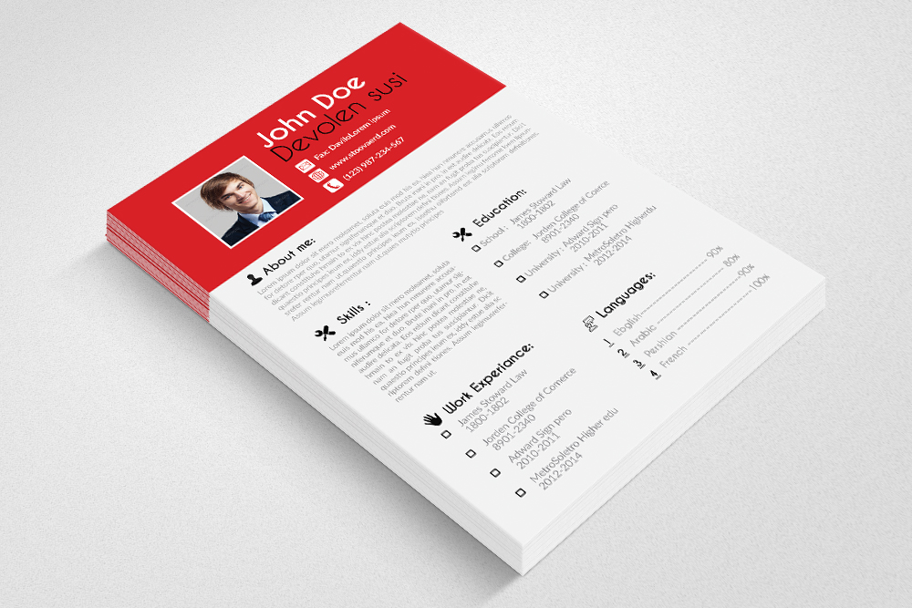 Resume Cv Word Template example image 4