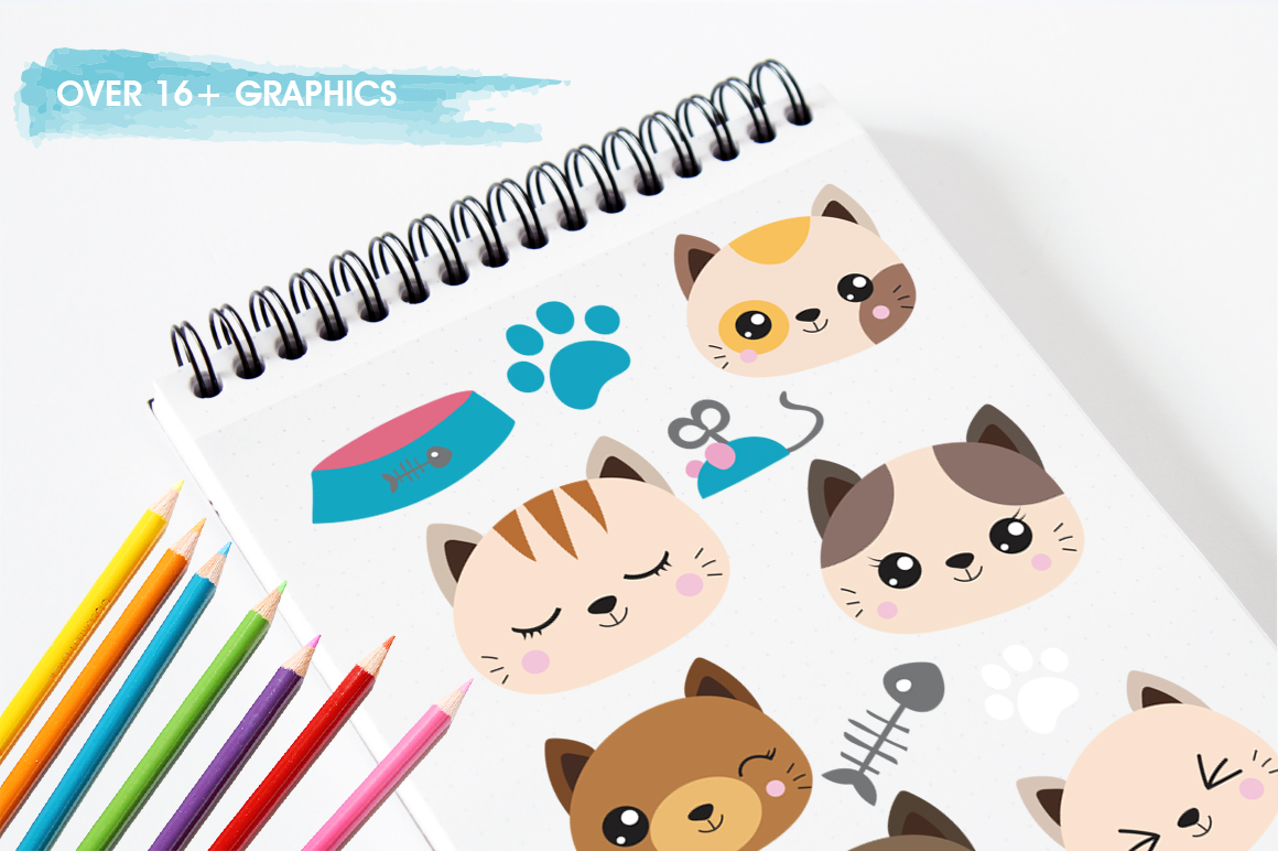 Cats graphic and illustrations example image 5