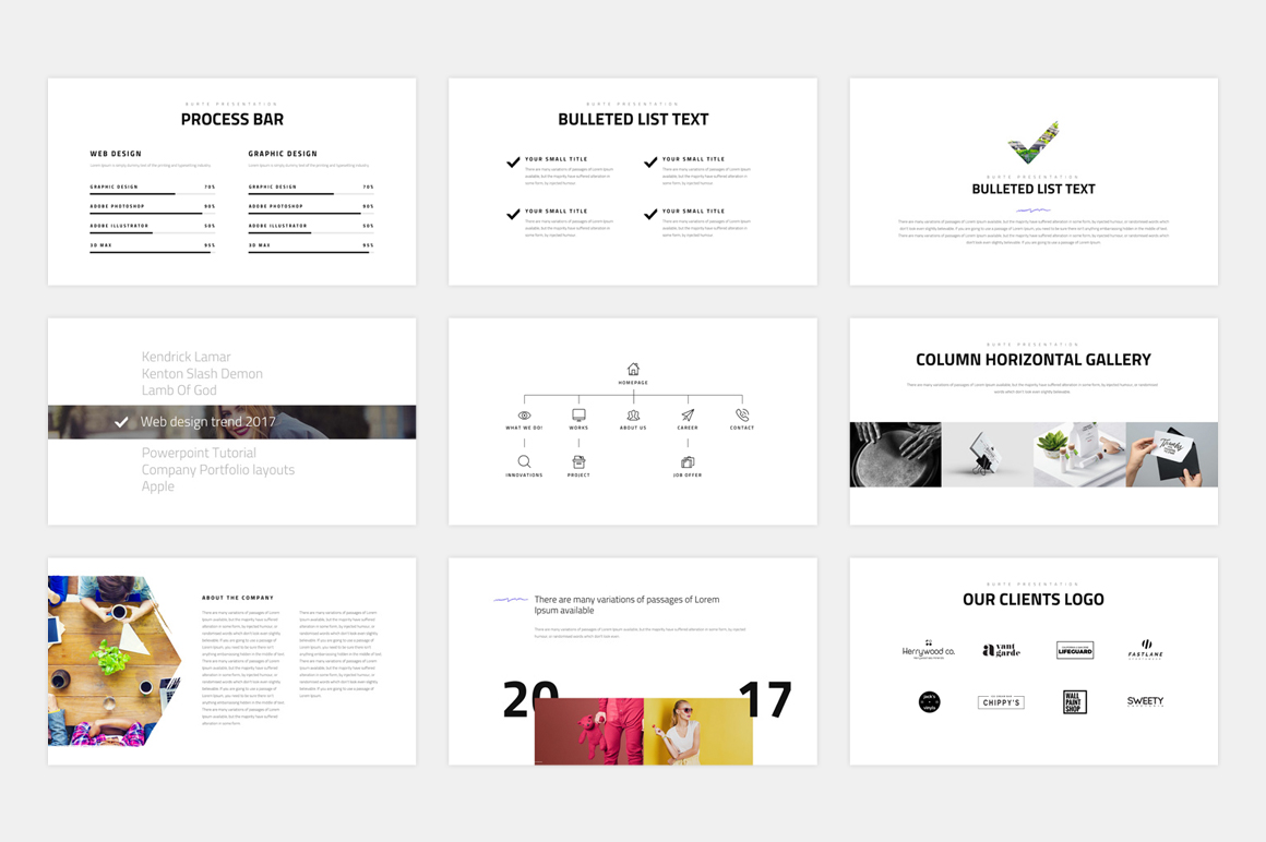 BURTE-Powerpoint Template example image 7
