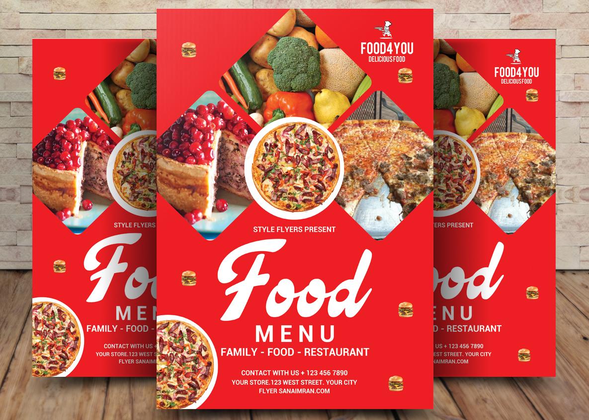 Food Menu Flyer Template example image 3