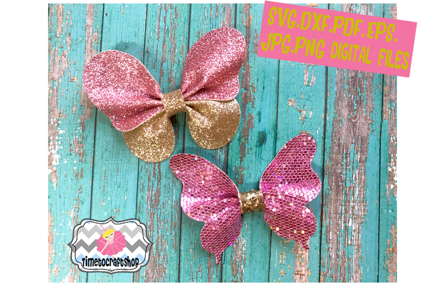 Pinch Butterfly Hair Bow Template 3d Butterfly