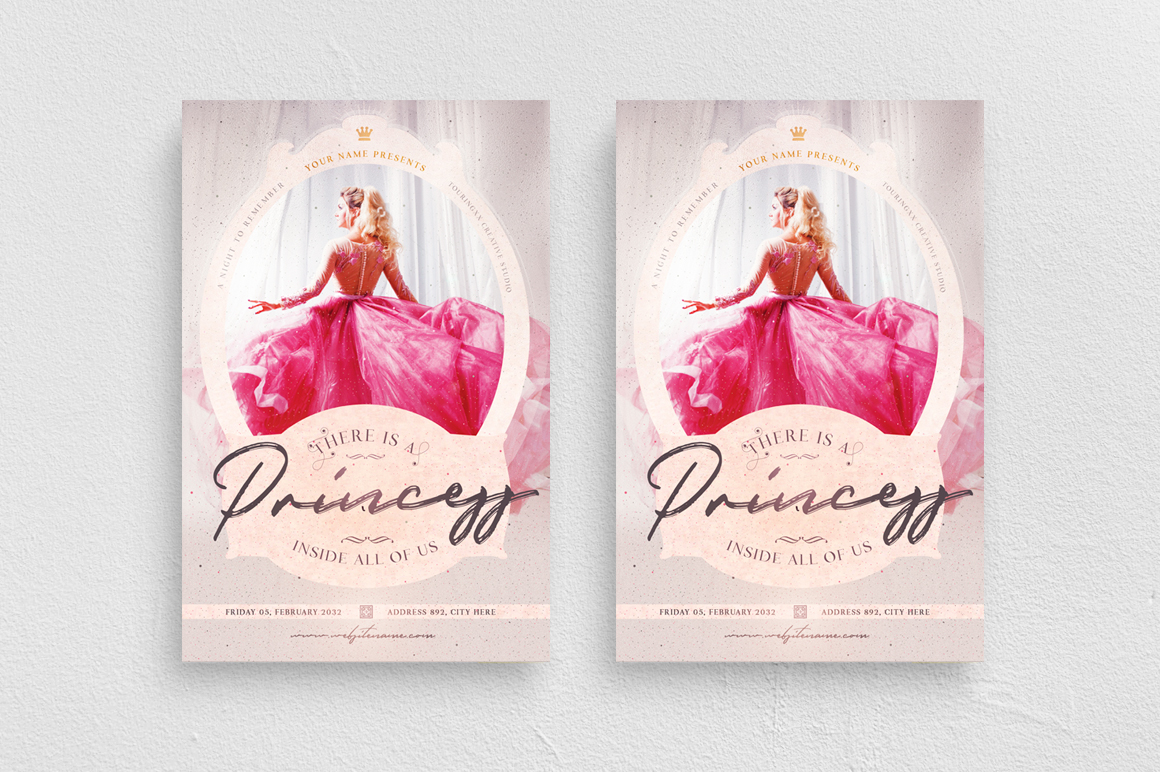 There Is A Princess Inside All Of Us Flyer Template example image 1
