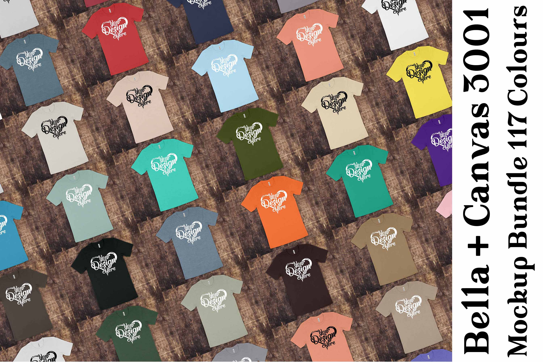 Bella Canvas 3001 Mockup Bundle T-Shirt Mock Ups 064 example image 1