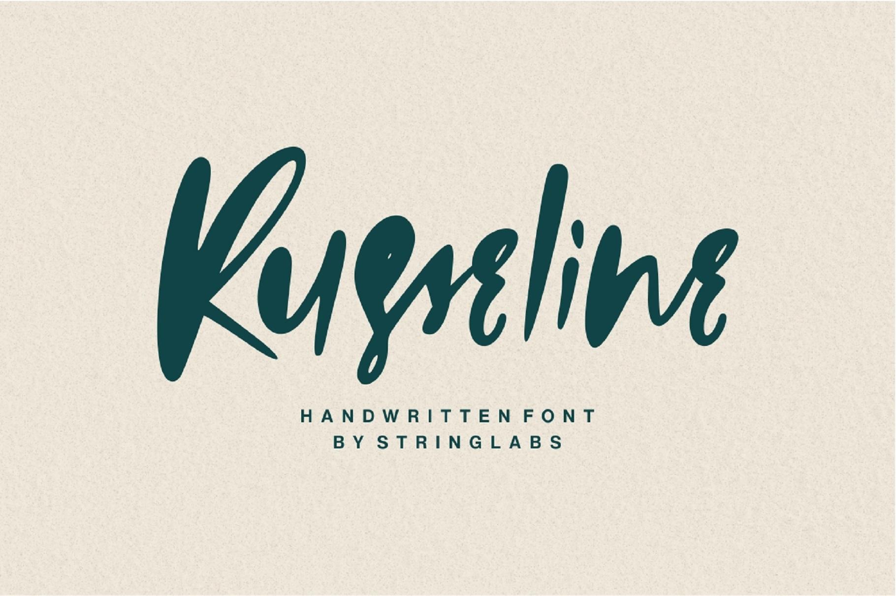 Russeline - Handwritten Font example image 1