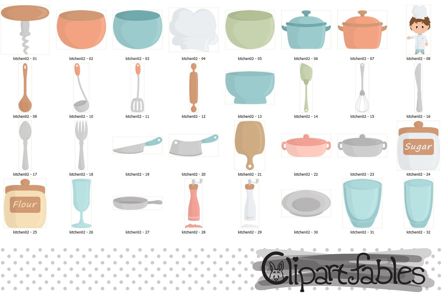 Chef clipart, Kitchen aid, Cute kitchen party, Instant example image 2